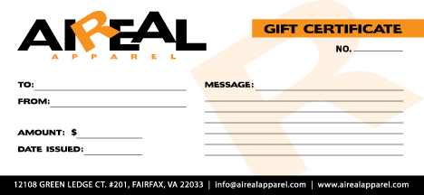 gift certificate template ai - aireal apparel gift certificate 25 gift 25
