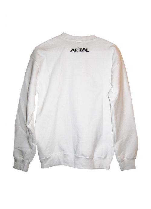 Break Necks Not Hearts Crewneck Sweatshirt in White by AiReal - Click Image to Close