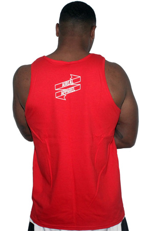 Sicker Than Your Average Mens Tank by AiReal Apparel in Red - Click Image to Close
