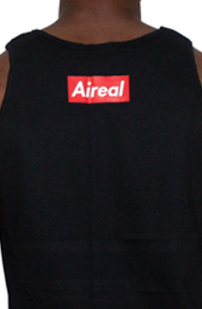Super Sperm Mens Tank by AiReal Apparel In Black - Click Image to Close