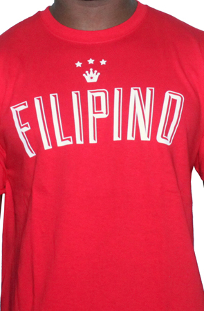 Filipino King Tee Shirt by AiReal Apparel in Red - Click Image to Close