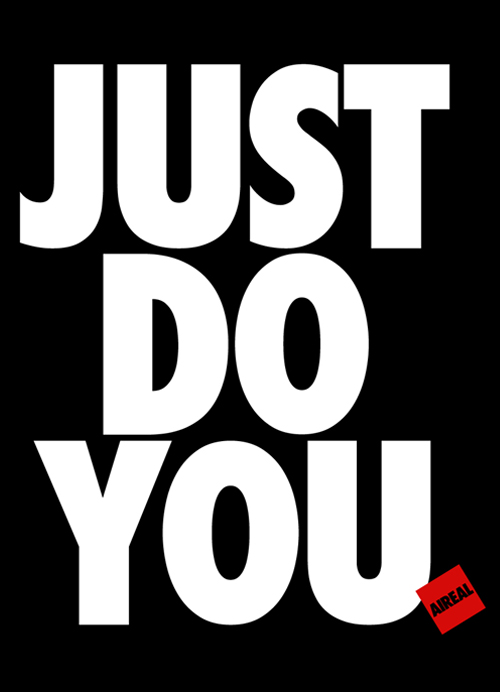 JUST DO YOU Mens Tee Shirt by AiReal Apparel in Black - Click Image to Close