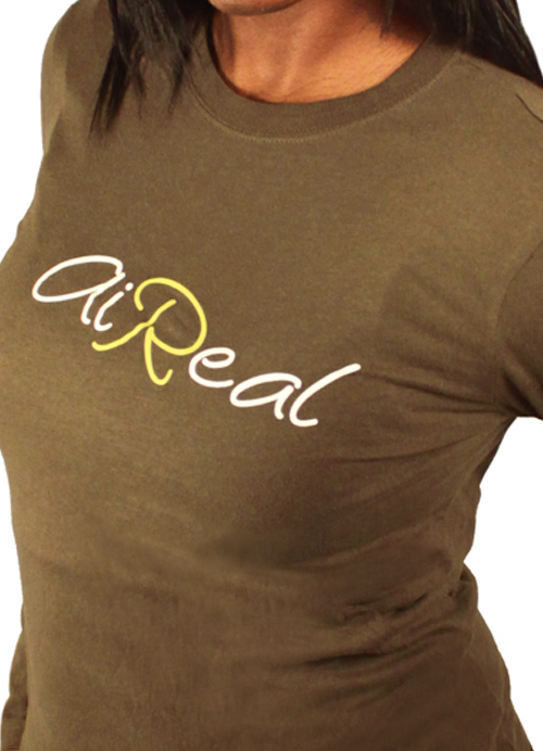 Lady AiReal Longsleeve Tee in Army - Click Image to Close