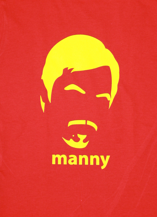 Manny Pacquiao No Nose Womens Tee Shirt by AiReal Apparel in Red - Click Image to Close