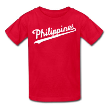 Philippines Script Kids Shirt by AiReal Apparel in Royal Blue - Click Image to Close